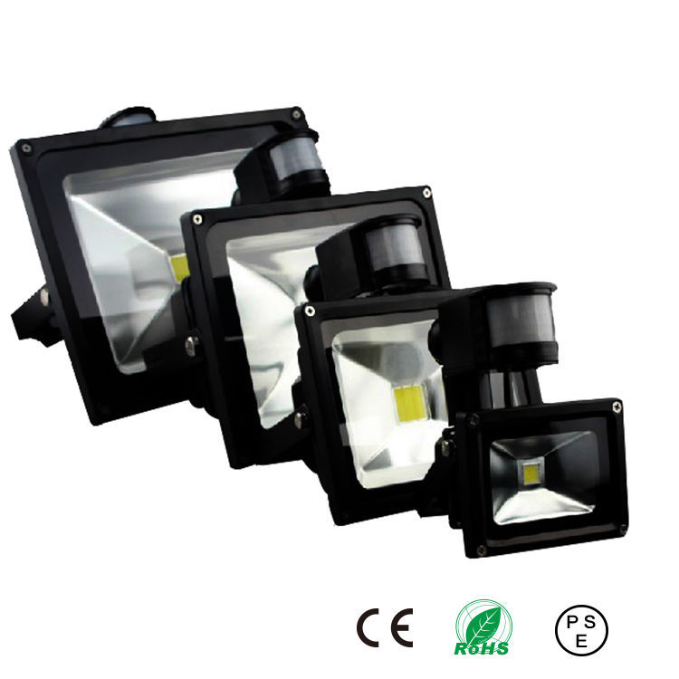 PIR LED Flood light Motion Sensor Outdoor lighting 10W 20W 30W 50W Waterproof IP65 AC85-256V Induction Sense Lamp Garden Light