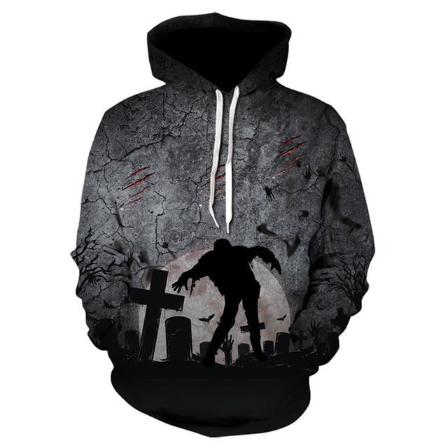 2018 new fashion hoodies men sweatshirt graveyard print hoodie men cool pullover hoodies suprem men sweatshirts tracksuit men