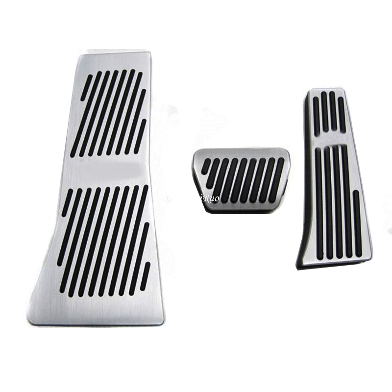 Car Accessories AT Accelerator Brake Foot Rest Pedal Pads For BMW X5 X6 Series E70 E71 E72 F15 with logoCar Accessories AT Accelerator Brake Foot Rest Pedal Pads For BMW X5 X6 Series E70 E71 E72 F15 with logo