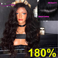 8A 4*4 Silk Base 180 Density 100% Human Hair Glueless Full Lace Wig Body Wave Front Lace Wig Black Women