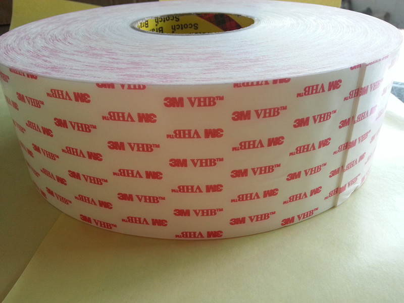 Free Shipping 2rolls 12.7mmx33m 3M 4914 White Acrylic Double Sided VHB Tape