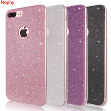 Shine Soft Silicone Case Voor iPhone 6 S 6 S 5 5S 5SE XS Max XR X 7 8 plus 6Plus 7Plus 8 Plus TPU Mobiele Telefoon Cover Behuizing Etui(China)