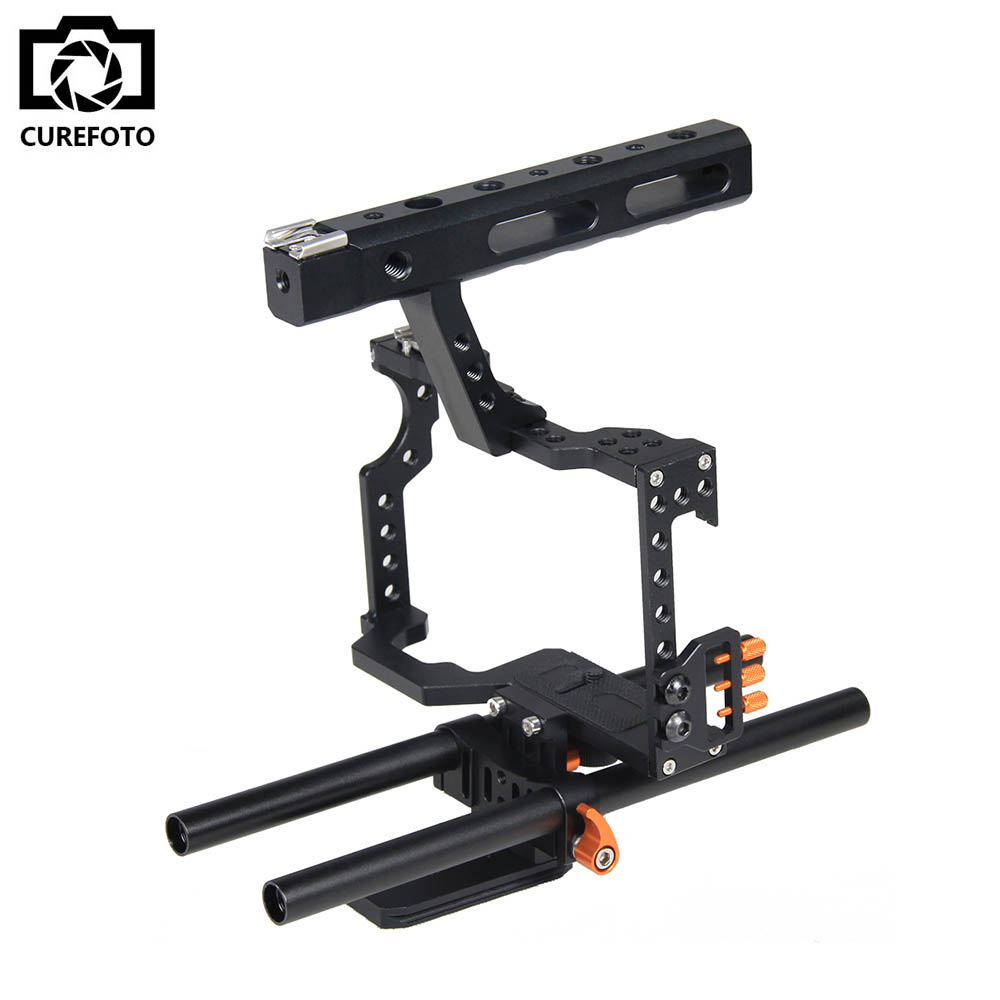 Handle Grip DSLR Video Stabilizer Film Movie Making Camera Cage For Panasonic GH4 Sony A7 Series Camera A7/A7II/A7s/A7r/A7RII