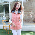 L-3XL Autumn Winter New Fashion Warm Women Vest Plus Size Patchwork 8 Colors Hooded Waistcoat Cotton Sleeveless Coat 40701