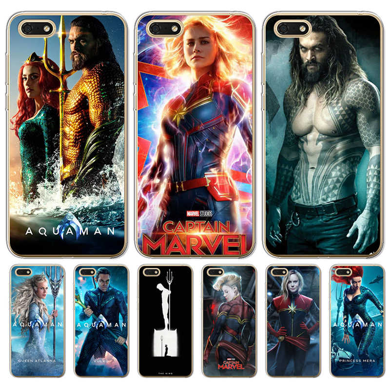 cover funda For Huawei P8 Lite 2017 P9 P10 P20 Pro P Smart Mate 9 10 20 Honor 6A 6X 7 7X 7C 7A case captain marvel aquaman Cool
