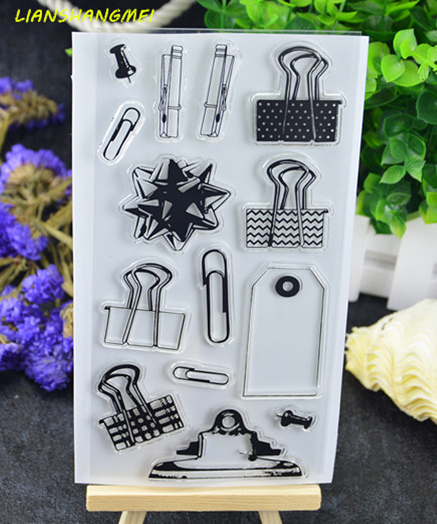 Clips Transparent Clear Silicone Stamp/Seal for DIY scrapbooking/photo album Decorative clear stamp sheets lovely elements transparent clear silicone stamp seal for diy scrapbooking photo album decorative clear stamp sheets