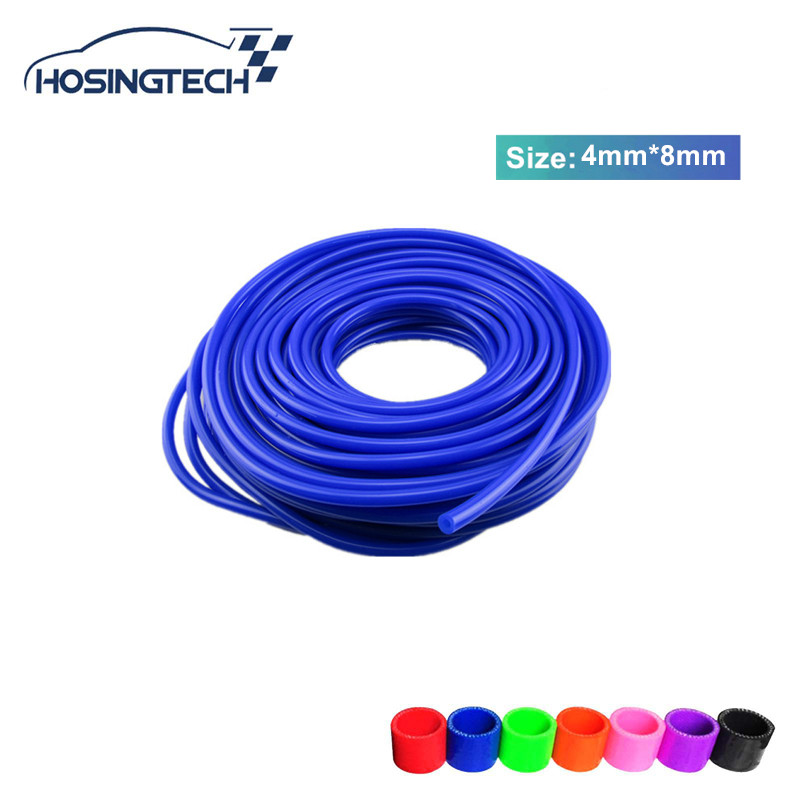HOSINGTECH ID:4mm OD:8mm New Silicone Vacuum Hose /Tube Silicone Pipe 50M