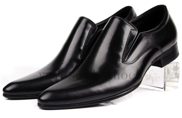 Sapatos Sociais Masculinos 2017 Brand Black Mens Office Shoes Pointed Toe Genuine Leather Dress Bussiness Oxfords In Women S Flats From On