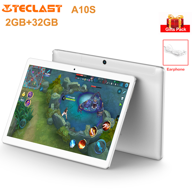 <font><b>Teclast</b></font> <font><b>A10S</b></font> Tablet PC 10.1'' IPS <font><b>Screen</b></font> Android 7.0 2.4G/5G Dual WiFi MT8163 Quad Core 1.3GHz 2GB+32GB Dual Cam Tablets 6000mAh image