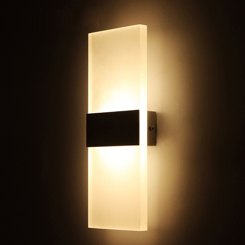 Modern bedroom wall lamps abajur applique applique murale bathroom sconc - Decoration murale led ...