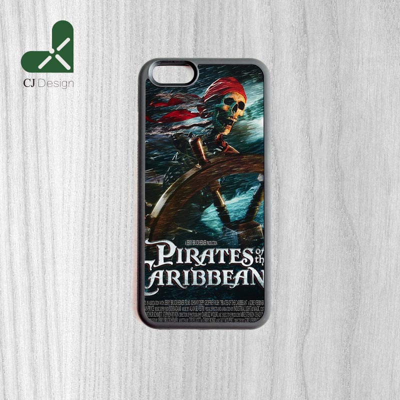 New Caribbean Curse Black Pearl Background Pattern TPU Material Phone Bags Protective Cover For iPhone 6 6s And 4s 5s 5c 6 Plus