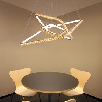 Modern creative geometry DIY pendant lights luxury crystal square pendant lamp silicone living room home lighting fixture
