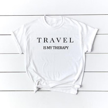 41a4546464c T Shirt Women Plus Size Summer Tops TShirt T-shirt Tee Shirt Femme Graphic  Tees Women Shirt Travel Is My Therapy T Shirt Xs-3xl