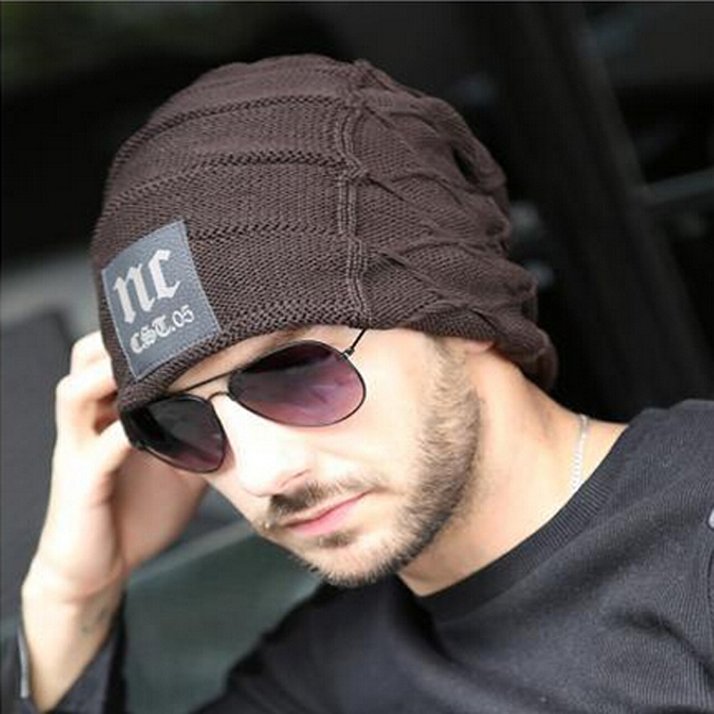 bb0d2fe78b198 herren hut 2015 Men hats beanie hat winter Knitting Wool Hat for Unisex Caps  Lady Beanie Knitted warm Caps women s hats-in Skullies   Beanies from  Apparel ...
