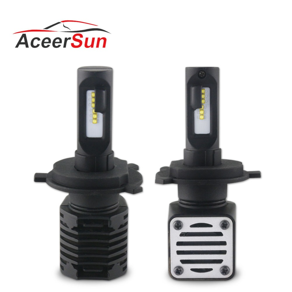 Super Bright H4 H7 LED Car Bulb H11 H13 9005 9006 9012 Hi-Lo Beam 12V 80W 10000LM 6000K Automobiles Lamp Car-styling Fog Light цены