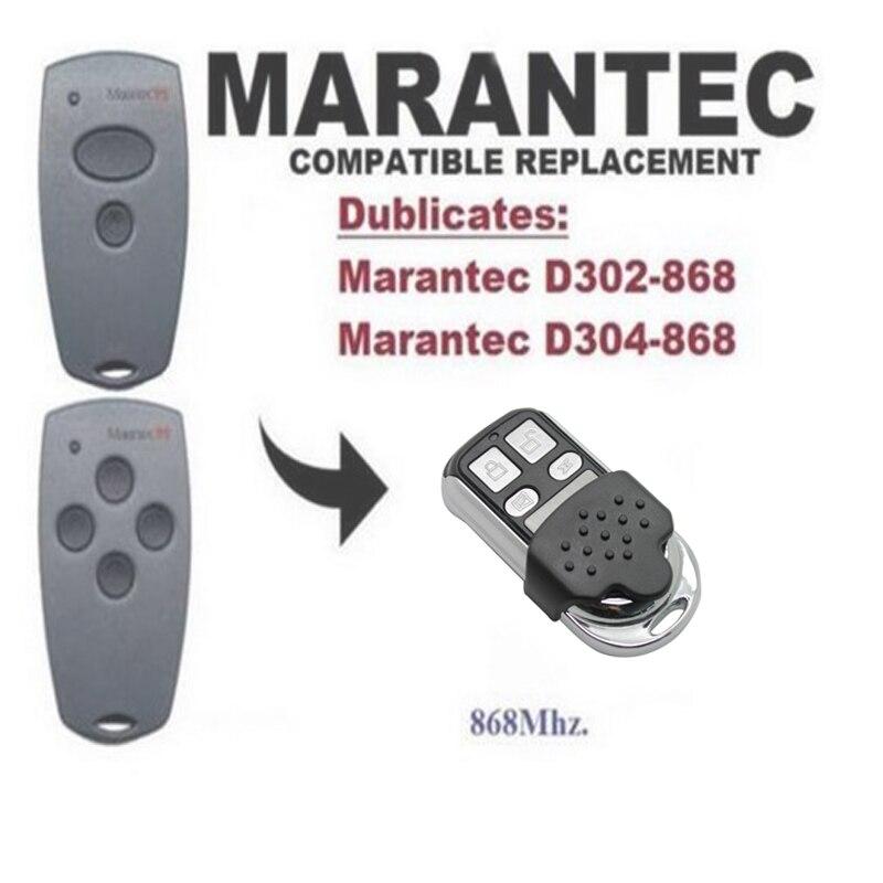 2pcs Marantec D302,D304 868Mhz Garage Door/Gate compatible Remote Control Duplicator free shipping2pcs Marantec D302,D304 868Mhz Garage Door/Gate compatible Remote Control Duplicator free shipping