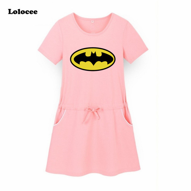 Batman Kids Girls Dress Superhero Birthday Party Costume Superman 2018 Summer New T