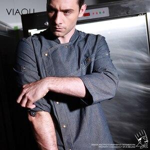 Image 1 - Uniformes de Chef de alta calidad, ropa de manga corta para hombre, ropa de cocina, uniforme de talla grande, chaquetas, monos, Hotel 016