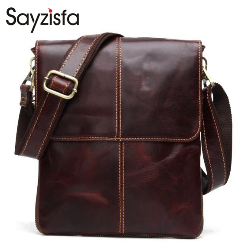 Genuine Leather Men Bags Fashion Male Messenger Business Bags Men's Small Briefcase Man Casual Crossbody Shoulder Handbag T597 new arrival fashion genuine leather men shoulder bags brand design man leather messenger bag male business bag briefcase