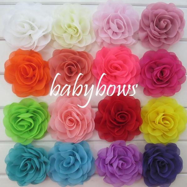 Babymatch 1000pcslot Handmade Chiffon Silk Hair Flower Rosettes
