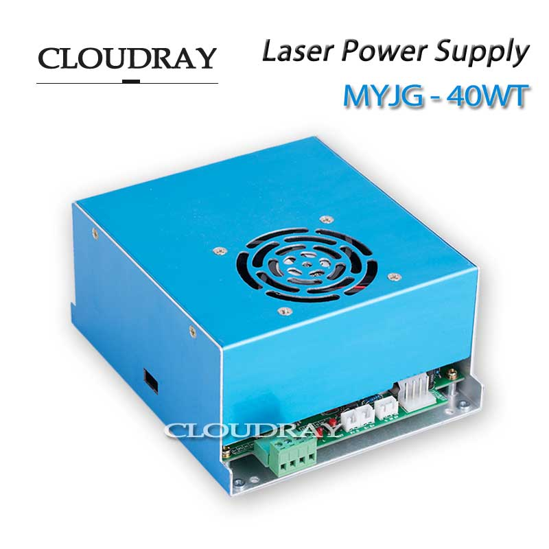 Cloudray Laser Power Supply Mini CO2 Laser Rubber Stamp Engraver Cutter Engraving 110/220V MYJG 40W  T