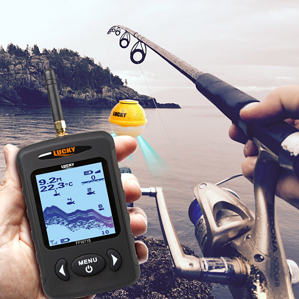 LUCKY FFW718LA Fish Finder Wireless Sonar Fishfinder Portable Locator 45M/135FT 125KHz Sonar Depth Alarm Siren Fishing FinderLUCKY FFW718LA Fish Finder Wireless Sonar Fishfinder Portable Locator 45M/135FT 125KHz Sonar Depth Alarm Siren Fishing Finder