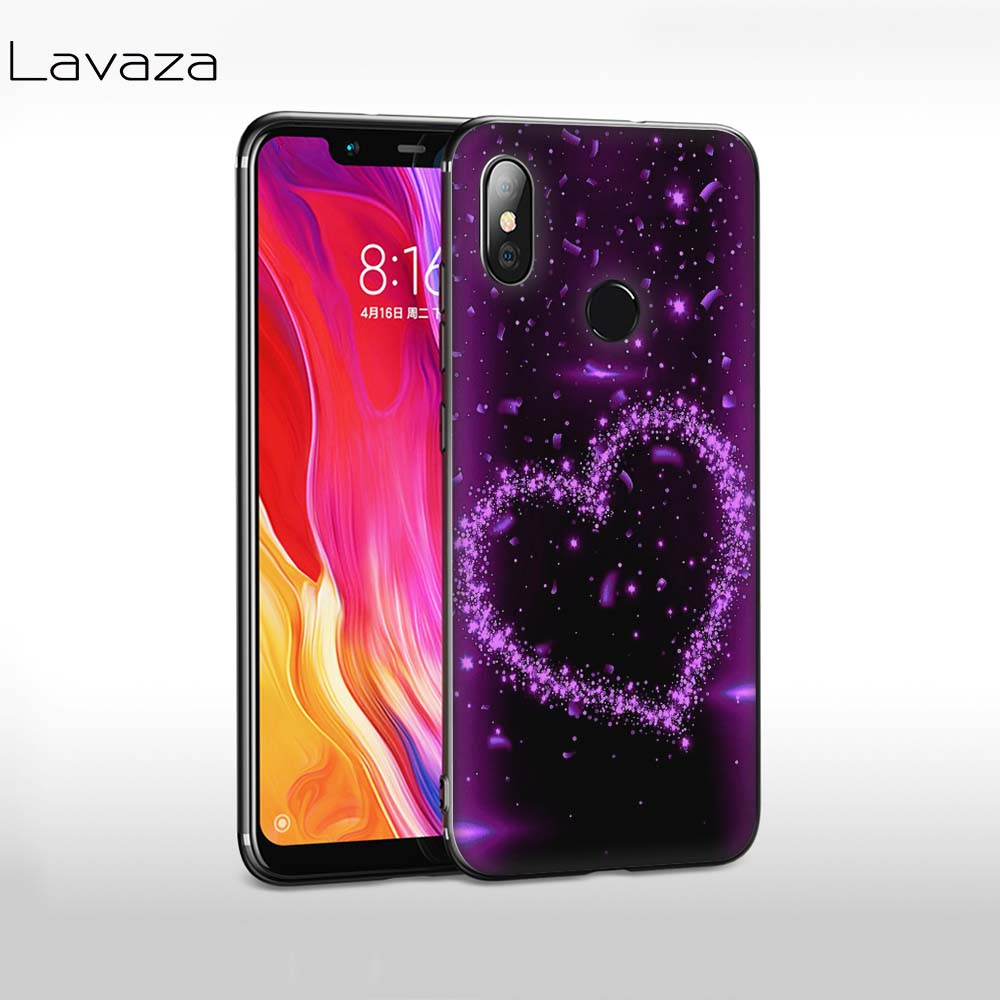 Lavaza Love Purple Glitter wave Soft Case for Huawei Y7 Prime Y9 Y6 2018 Nova 3 3i for Honor 7A 8X 8C 8 9 10 Lite TPU Cover in Fitted Cases from Cellphones Telecommunications