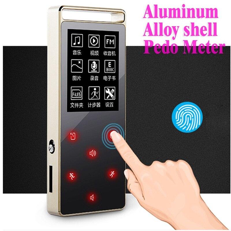 Оригинальный ruizu D01 Металл HiFi Bluetooth MP3-плееры Сенсорный экран 8 ГБ играть 100 часа высокого качества без потерь звук плеера