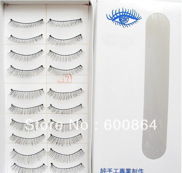 HOT 50pairs 217# Fashion Eyelashes eyelash extension False Eyelashes Fake Eyelashes artificial eyelash 100% Hand made Eye lash