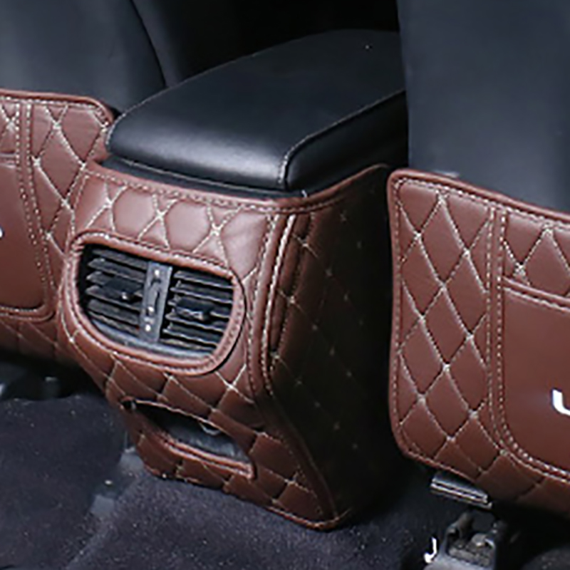 QHCP Car Armrest Box Anti-kick Mat Cover Leather Kick Pad Back Seat Protection Mat Children Anti-Kick Pad For LEXUS NX RX ES ...