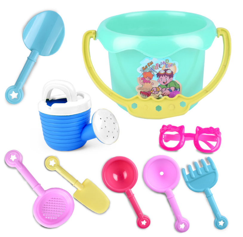9pcs/suit Sunglass Beach Bucket Beach Toys Childrens Beach Water Toy Suit Classic Beach Toys Hot Sale And Digestion Helping Toys & Hobbies Bath Toy