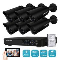 8CH CCTV System 6PCS 1920TVL Outdoor Weatherproof Security Camera 8CH 1080P DVR Day Night DIY Kit
