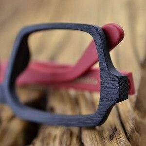 Image 5 - HDCRAFTER Vintage/Retro Eyeglasses frames Wood Women Men Oversized Prescription Optical Frames Glasses Spectacles Eyewear