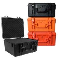 Caja de instrumentos de protección de seguridad, equipo de caja de herramientas para exteriores, Maleta impermeable a prueba de golpes con esponja, 328x235x168mm