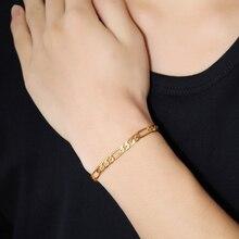316L stainless steel bracelet never fade Feijiaro chain gold Colour bracelet trendy fashion men's jewelry wholesale
