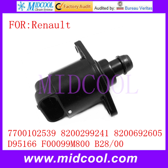 New Idle Air Control Valve OEM 7700102539 8200299241 8200692605 D95166 F00099M800 B28/00 for Renault