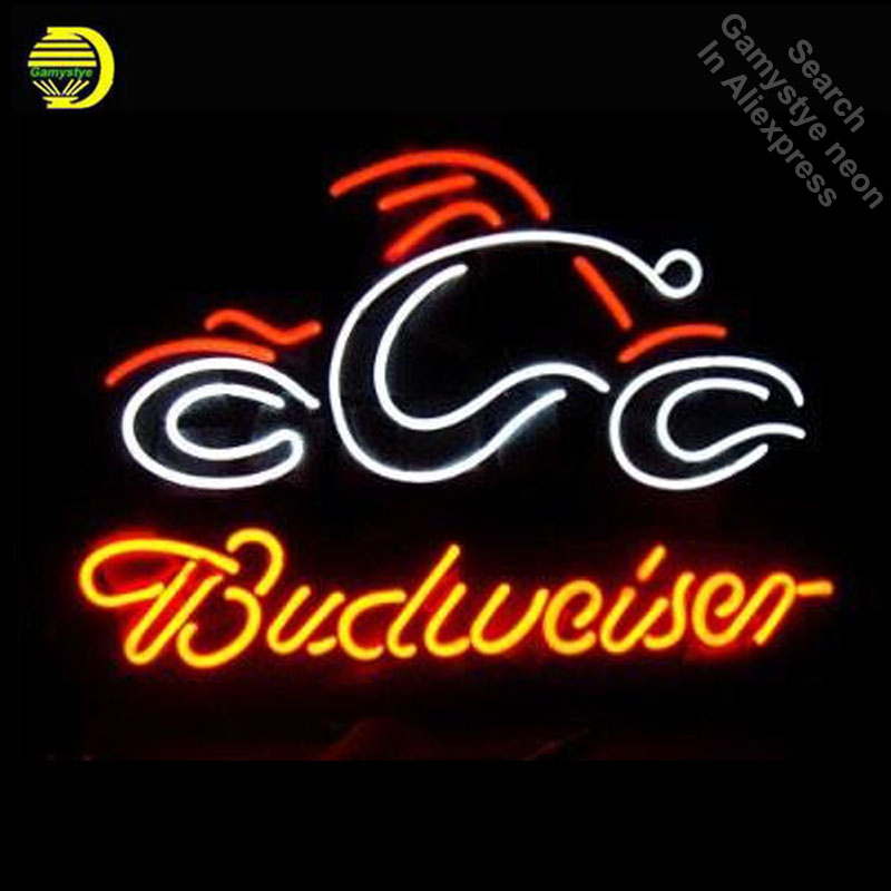 Neon Sign for Budweise Neon Bulb sign Business Hotel Display Handmade Glass tube Energy Drink Beer Bar Pub Light metal frameNeon Sign for Budweise Neon Bulb sign Business Hotel Display Handmade Glass tube Energy Drink Beer Bar Pub Light metal frame