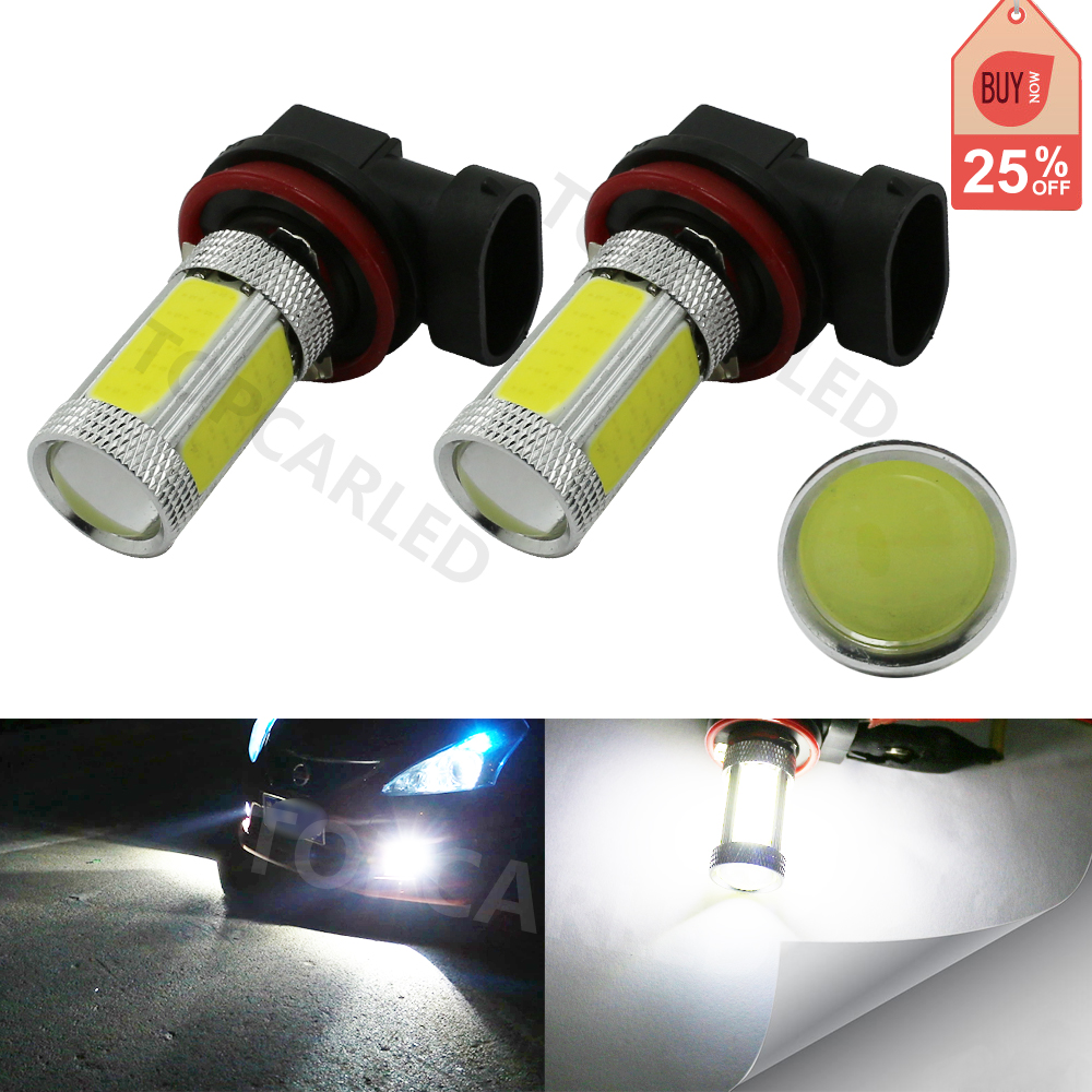 2pcs Super Bright 2000LM 360 degree White 6000K H11 COB 20w LED High Power Fog Driving Headlight Light Lamp Bulb 12V so k 4x p15d px15d t19 p15d 25 1 h6m 50w high power cree super bright motorcycle moto led headlight driving lamp drl white