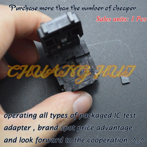 IC TEST 20QN50S14040-B test socket QFN20 DFN20 WSON20 MLF20 UDFN20 IC SOCKET Pitch=0.5mm Size=4x4mm