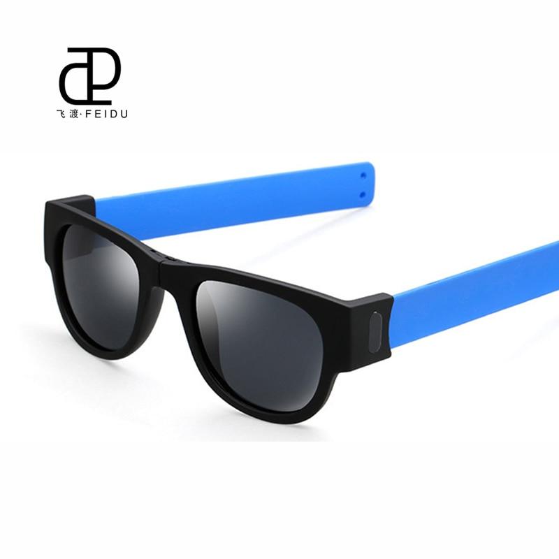 8b43bafc7018c Feidu new moda mais novo estilo dos homens polarizados óculos de sol das  mulheres de verão dobrável Óculos de Sol HD Lente Engraçado Óculos de Hip  Hop Para ...