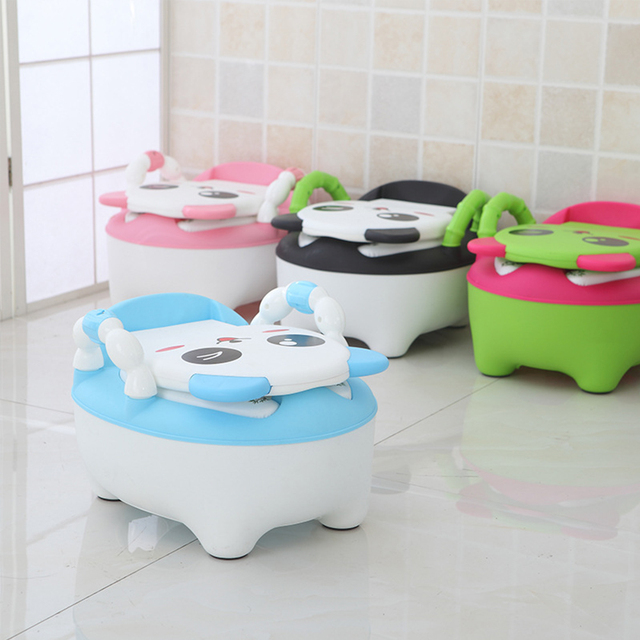 Cute and comfortable Baby Potty for Toilet Training – Blue with Soft pad