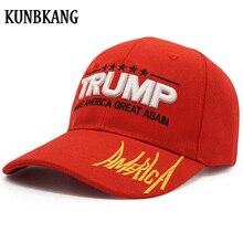 c1b6b91407b High Quality Donald Trump 2020 Baseball Cap Make America Great Great  Snapback Hat Embroidery AMERICA Bone