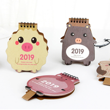 2019 Kawaii Animals Cartoon pig Mini Desktop Paper Calendar Daily Scheduler Table Planner Yearly Agenda Organizer new 2019 cartoon animals calendar table calendars various animal desk planner calendar 2018 07 2019 12