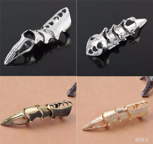 Batman Suicide Squad Cosplay Golden Gothic Celestia Punk Finger Bone Ring