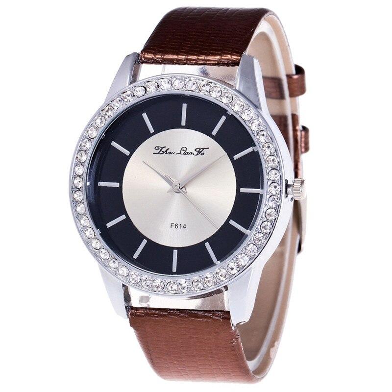 ba794f793c4 Relógios Das Mulheres De Luxo Relógio de Quartzo dos homens Pulseira de  Couro ...