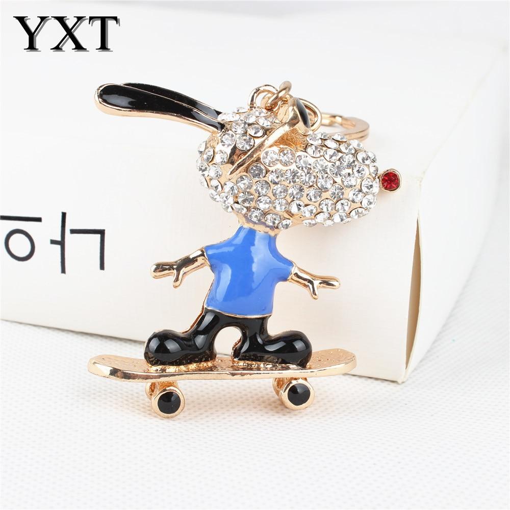 Roller skates for dogs - Sport Roller Skates Glasses Dog Cute Crystal Charm Purse Handbag Car Key Keyring Keychain Party Wedding