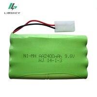 높은 전력 9.6v 2400 mah 원격 제어 장난감 전기 조명 조명 보안 faclities aa 9.6v 배터리 그룹|충전가능 배터리|가전제품 -