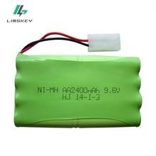 Высокая мощность 9,6 в 2400 мАч удаленного Controul игрушка электрический освещение безопасности faclities AA 9,6 батарея группы