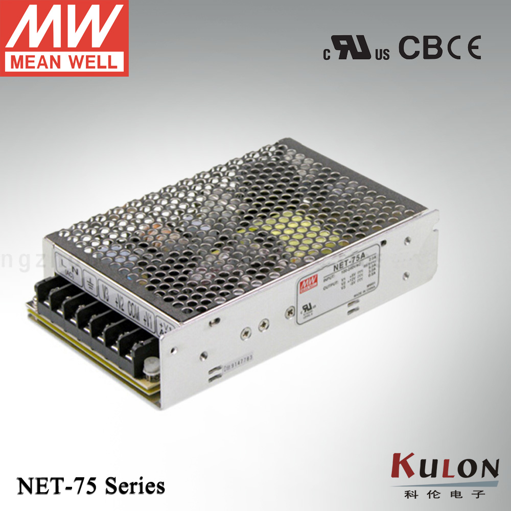 Original Mean well NET-75A 68.5W Triple output 5V 12V -5V Meanwell power supply meanwell three groups output switch power net 75 d 2 years warranty new original