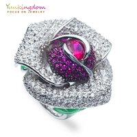Yunkingdom vintage flower rings for women anillos anel party anniversary ring M0369